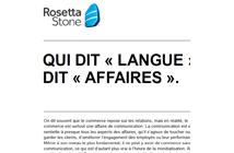 """Qui dit """"langue"""" dit """"affaires"""""""